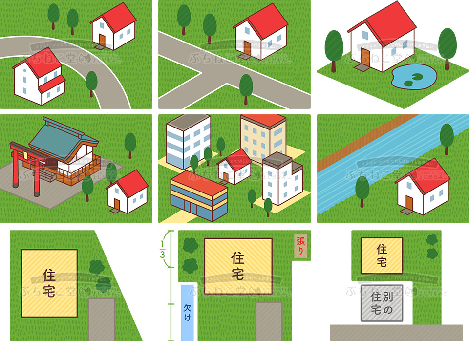 制作実績 家を建てる場所の図説イラスト