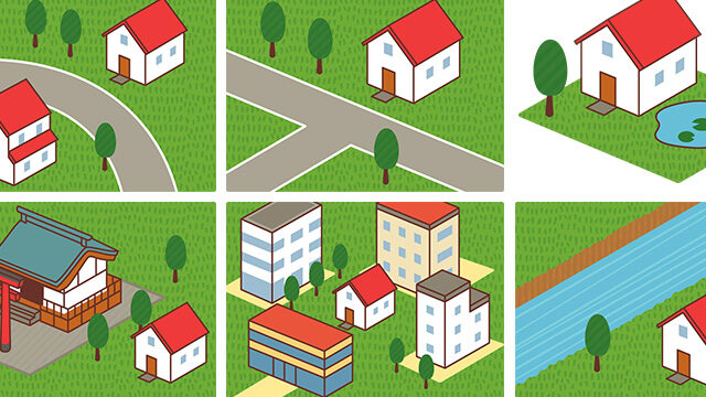 アイキャッチ 家を建てる場所の図説イラスト